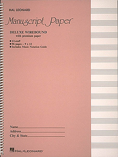 Deluxe Wirebound Premium Manuscript Pink Cover By Hal Leonard Publishing Corporation (CRT)